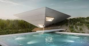 architects houses tna reveals inverted pyramid design for solo house in matarraña spain