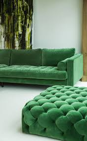Emerald Green Home Decor by Green Velvet Left Sectional Tufted Article Sven Modern