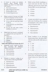 paper pattern of aiims aiims delhi staff nurse answer key 2017 download pdf cut off marks