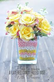 Vase To Vase Florist How To Make A Floral Centerpiece Candy Filled Vase With Flowers
