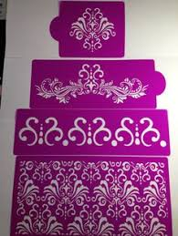 Narrow Floating Bubbles Cake Stencil