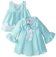 bonnie baby baby newborn aqua dot coat and dress
