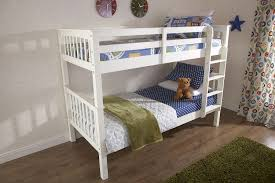 White Wooden Bunk Bed Gfw Novaro White Wooden Bunk Bed By Gfw