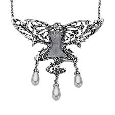 fairy jewelry necklace images Van kempen art nouveau simulated pearl fairy necklace in sterling jpg