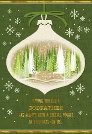 special godfather christmas card greeting cards hallmark