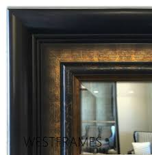 mirror mantle u0026 bathroom vanity mirror dark brown u0026 bronze gold