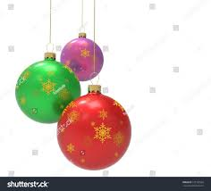 three colorful ornaments baubles stock illustration