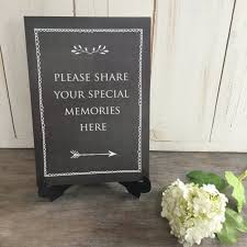 funeral sign in book your special memories sign black for funeral