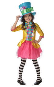 costume for kids mad hatter girl costume girl s world book day fancy dress