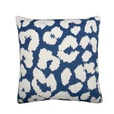 Blue Leopard Print Blue Leopard Print Square Pillow