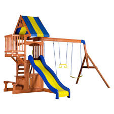 peninsula wooden swing set playsets backyard discovery