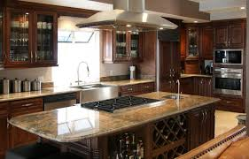 dark kitchens white wooden wall walnut cabinet u shape kitchen