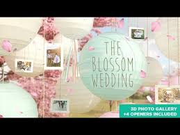 the blossom wedding photo gallery slideshow after effects