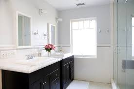 gray double bathroom vanity design ideas