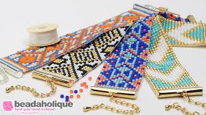 beaded bracelet kit images How to make the beaded loom bracelet kits by beadaholique jpg