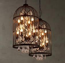 Outdoor Hanging Chandeliers Discount Birdcage Chandeliers Led Lights Pendant Lights S M L Size