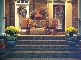 Fall Decorated Porches - exterior extraordinary front porch design and decoration using