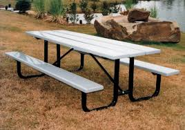 vmwct8pp 8ft plastic picnic table 2 attached 8ft seats plasti