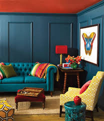 Yellow Grey Chair Design Ideas Blue Sofa And Yellow Chair Combination For Colorful Living Room