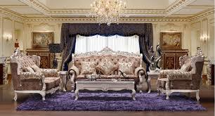 canap royal 3 2 1 européenne royal style tissu canapé fixe salon meubles