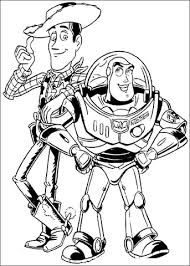 buzz lightyear woody sheriff coloring free printable