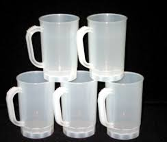 75 frosted 1 pint plastic mugs wholesale lot plastics from us