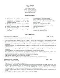 Mechanical Technician Resume Engineering Technician Resume Sample Click Here To Download This