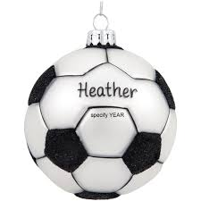 personalized soccer ball glass form ornament bronner u0027s christmas
