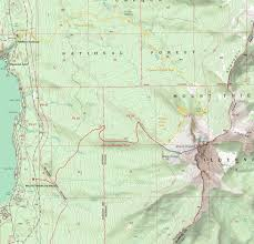 Three Sisters Springs Map Mount Thielsen Climbing Hiking U0026 Mountaineering Summitpost