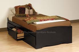 sonoma black twin platform storage bed at gowfb ca prepac