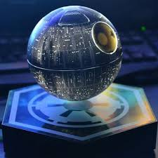 star wars death star magnetic floating bluetooth ball speaker