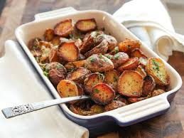 ultra crispy new potatoes with garlic herbs and lemon recipe