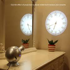 light projection alarm clock new spherical led wall clock light digital pointer arabia digital