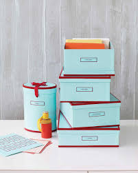 stylish storage boxes with labels martha stewart