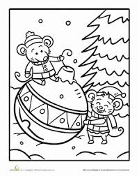 coloring pages christmas worksheet color number math worksheet