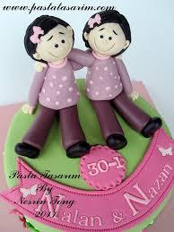 twins sisters birthday cake www pastatasarim com cake by