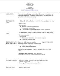 Profile Sample Resume by Resume Templates Jamaica Resume Writing University Of Technology