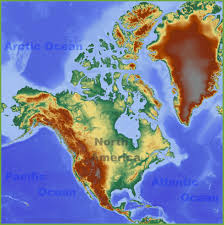 Geographical Map Of The United States by North America Maps Maps Of North America Ontheworldmap Com