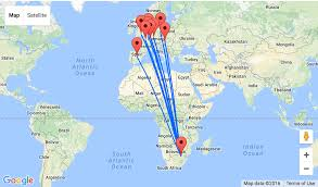 Amsterdam Map Europe by Deal Alert Open Jaw Flights From Europe To Johannesburg From U20ac268