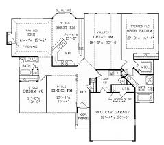 split bedroom floor plans split bedroom ranch for modest lot 3858ja architectural