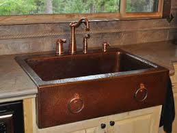 copper apron front sink traditional copper farm sinks on mountain rustic sink writers bloc