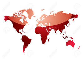 Shades Of Red Color Shades Of Red Abstract World Map With Light Reflection Royalty