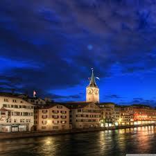 Zurich Google by Zurich At Night Hdr Hd Desktop Wallpaper High Definition