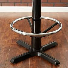 bar height table base with foot ring table seating chrome foot ring for bar height metal table base