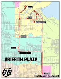 Green Line Chicago Map by East Chicago Bus Route