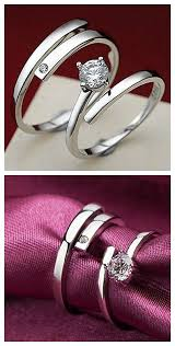 fashion couples rings images Couples 39 kiss the lifelong silver ring a pair of selling jpg