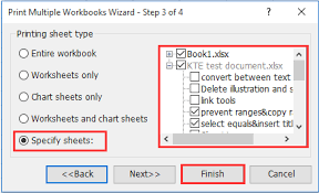 how to print only certain specific worksheets in excel