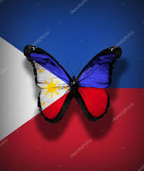 Flag Philippines Picture Philippines Flag Butterfly Isolated On Flag Background U2014 Stock