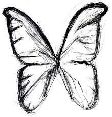 easy pencil drawings of butterfly kids and drawing art