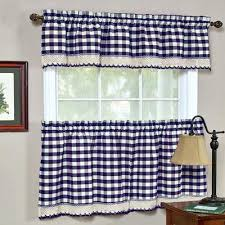 Kitchen Curtains Blue by Blue And Yellow Plaid Kitchen Curtains Blue Plaid Kitchen Curtains